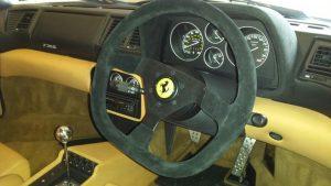 Ferrari suede steering wheel