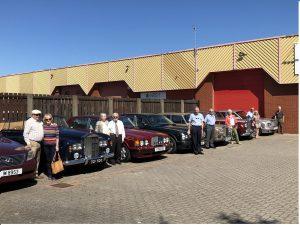 Rolls Royce cars outside HQ