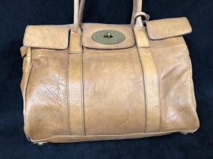 Veg tanned Leather Mulberry bag