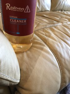 Leather Sofa using the Leather Cleaner