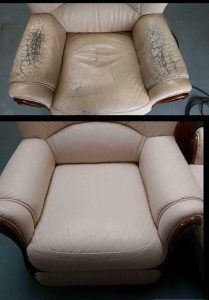 Chair Before & After Restoration