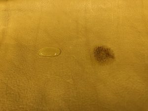 Aniline Leather Skin With Water Test