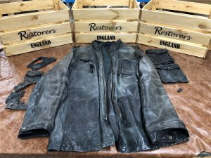 Black Leather Jackets Colour Faded and Worn