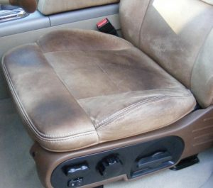 King Ranch Leather Seats With Stains