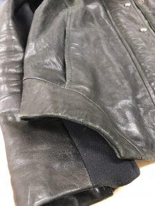 Ladies Black Jacket Cuff Area