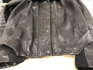 Ladies Black Leather Jackets Showing Signs Of Fading