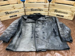 Old Black Leather Jackets Colour Faded
