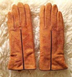 Pig Leather Skin Suede Gloves