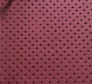 Diamond Shape Perforated Leather