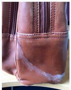 Leather Handbag Water Damaged