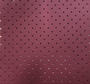 Large Hole Perforated Leather