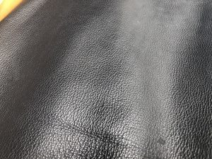 Pigmented Leather Embossed Grain Pattern