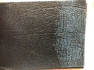 Rub Off Leather Blue Shade