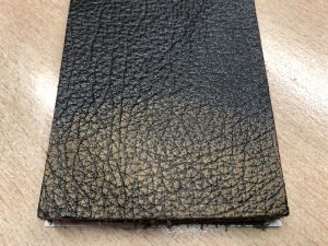 Rub Off Leather Oxide yellow Shade