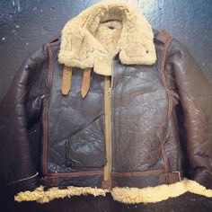Sheepskin Bomber Flying jacket