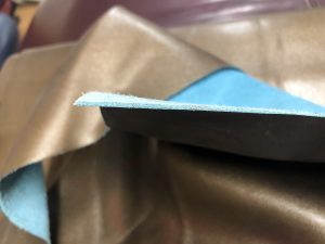 Split Leather Showing Side Cut Areas