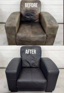 Aniline Leather Chair Restored