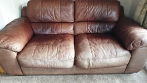 Aniline Leather Sofa Faded