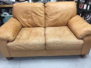 Aniline Leather Sofa Fading