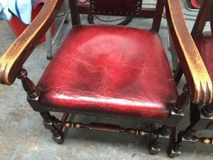 Antique Chair Leather Base