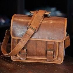 Camel Leather Satchel