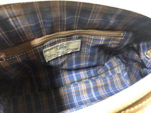 Chequered Pattern Inside A Handbag