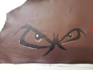 Eyes Painted On Leather