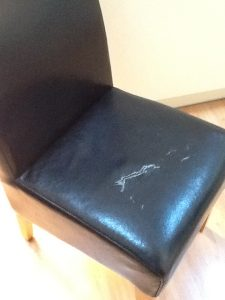 Faux Leather Chair Base