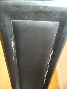 Faux Leather Dining Chair Back