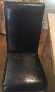Faux Leather Dining Chair Damaged