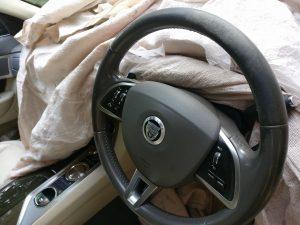 Jaguar Leather Steering Wheel Worn