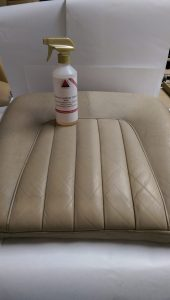 Leather Cleaning Half Done Car Seat Base