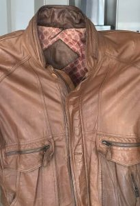 Leather Collar With Grease