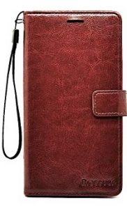 Leather Phone Case Brown With Handle Loop
