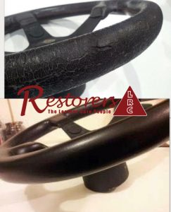 Leather Steering Wheel With Cracking Restored