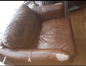Peeling Chair Bonded Leather
