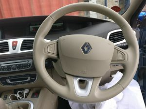 Renault Leather Steering Wheel Restored