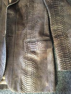 Snakeskin Close Up Jacket