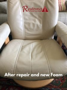 Ekornes Chair Foam Replaced and Repaired