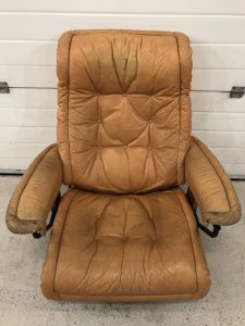 Ekornes Chair Old Worn and Tired