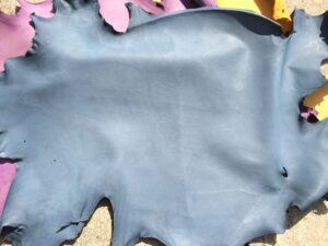 Llama Leather Hide Slate Blue