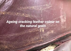 Ageing Cracking On Leather On Natural Grain